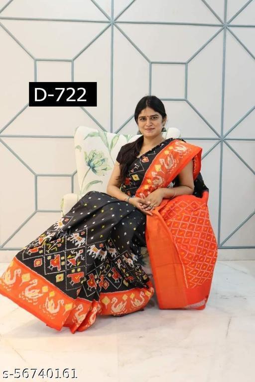 Jayaba designer double ikkat pure pattu Sarees for office wear, casual wear