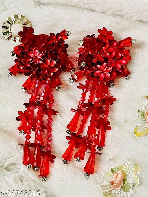 Korean earring Flower Design Crystal