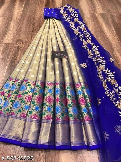 JHM Kanjiveram Silk Zari lehanga