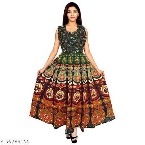 Cotton Long Maxi Dress for Women