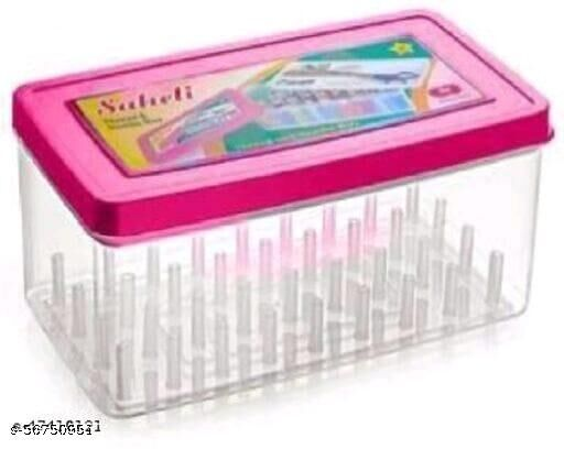 Empty Sewing Kit Set Box Needle Thread Reel Plastic Box Organizer