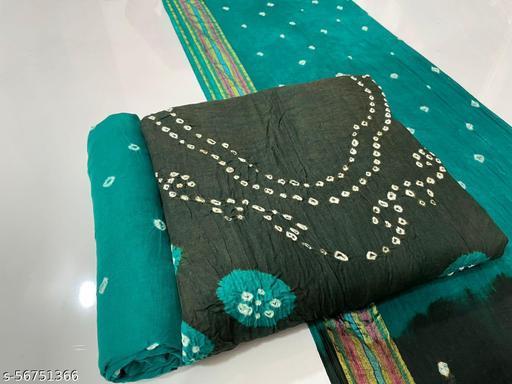 Daman Bandhai Suit Material