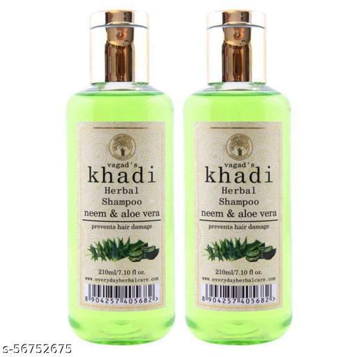 Vagad's Khadi Neem and Aloe Vera Shampoo For Men and Women Pack of 2 ( Each 210 ml )