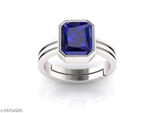 Blue Sapphire Neelam 9.25 ratti Stone Panchdhatu Adjustable Ring for Men