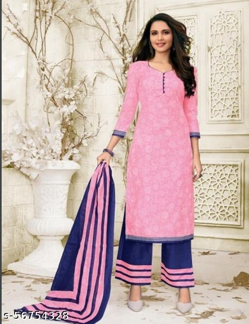 Premium quality cotton suit material (unstitched)
