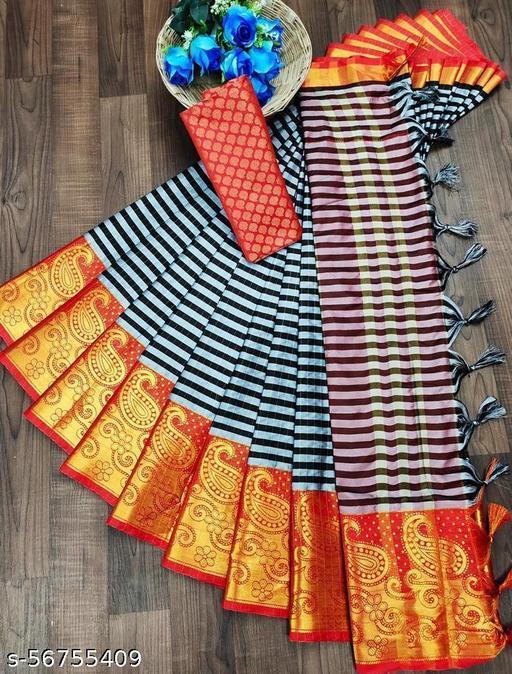 Art Silk Heavy woven Saree
