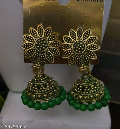 traditional small jhumki for party wear wedding wear