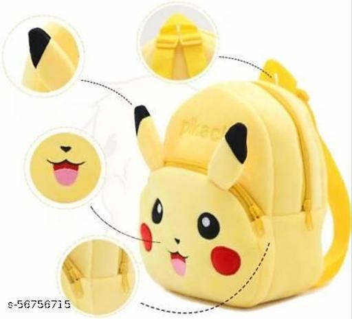 Kids Bag/ Plush Backpack/ Carry Bag/ Cartoon Bag/ Picnic Bag/ School Bag For Kids (Ideal For 2 To 6 Year Old Girl/Boy /Child) ( Pikachu=Yellow) School Bag  (Yellow, 10 L)