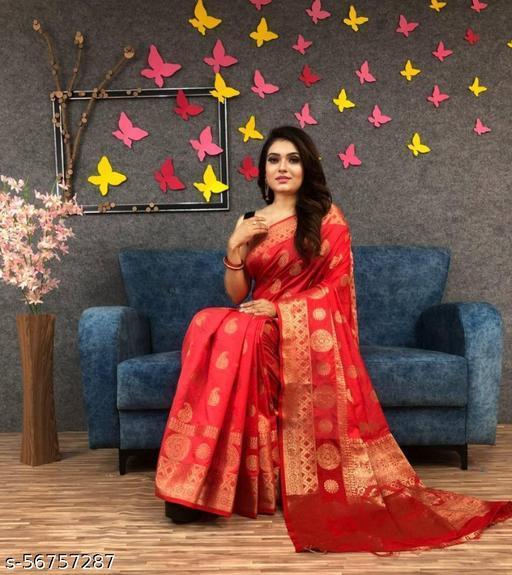 Beautiful Zari Woven Soft Silk Saree