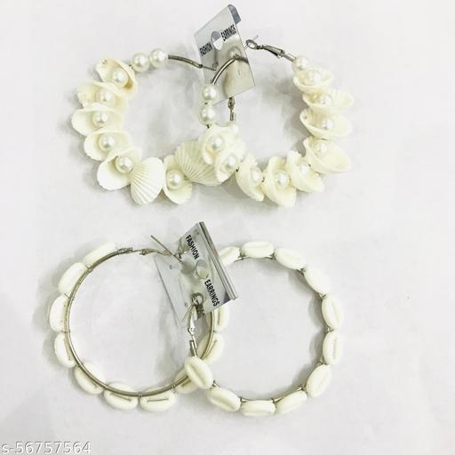 Natural white kodi combo set Earrings & Studs