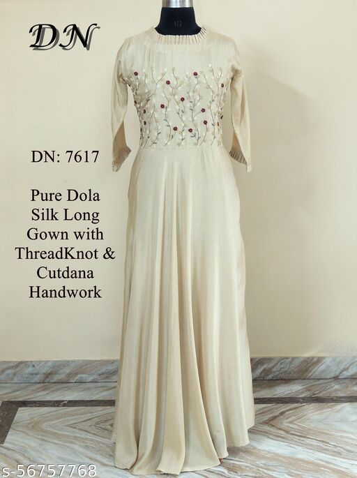 Pure dola silk long gown