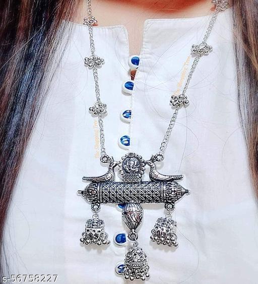 Primis Stylish Antique Designer Jewellery Necklace Set for Women and Girls
