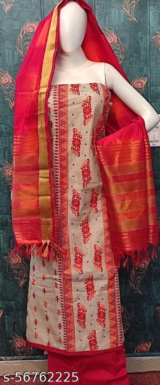 AASHITA'S Beautiful Embroidered Silk Dress Material