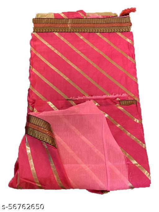 gota leheriya saree with blouse cotton silk