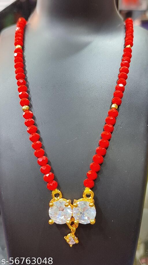 18 Inch Regular use Locket with Crystal chain, Nepali design, traditional