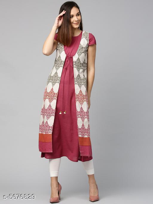 Women's Solid Cotton Kurti