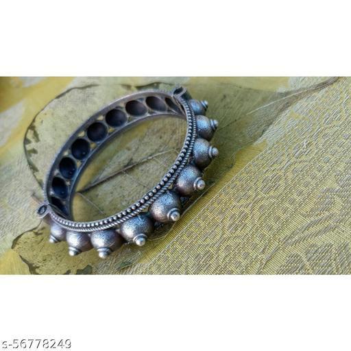 Antique Silver Oxidised Kada
