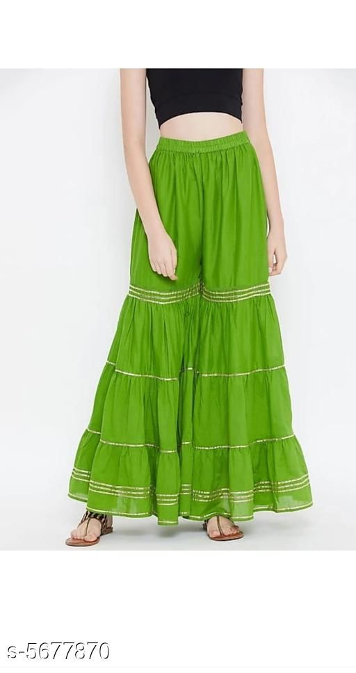 Trendy Partywear Rayon Women'sSharara