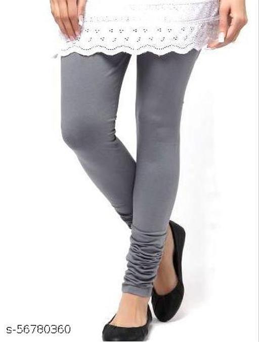 Cotton Lycra Leggings for Women's / Girls Grey color XXL size
