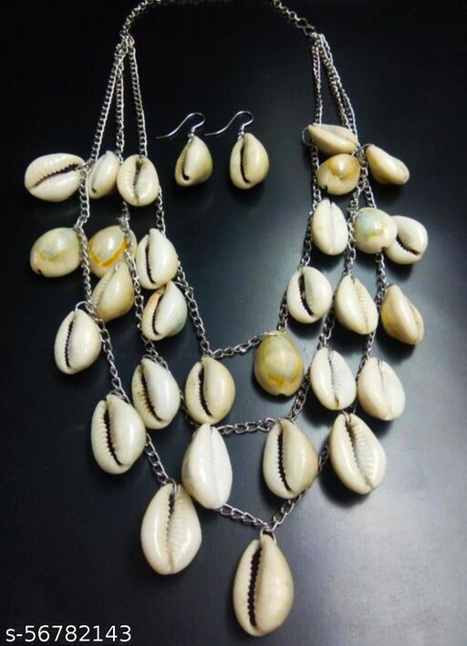 Silver Oxodised Original Kowrie Necklace Set