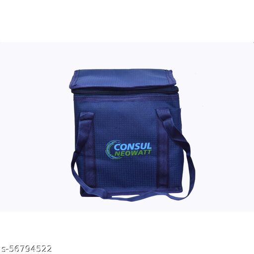 Polyester Compact, Easy Wash, Smooth Zipper and Lightweight Insulated Lunch Bag for Men, Women (Blue)