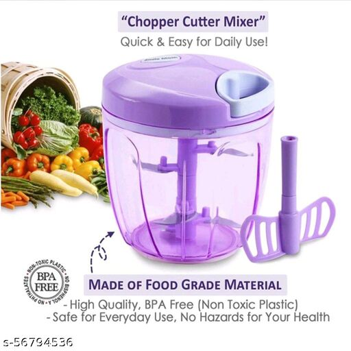 2 in 1 Handy Vegetable Chopper/Cutter with 5 Blades (1000 Ml)