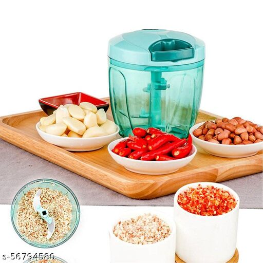 Manual Stainless Steel Compact Extra Sharp Vegetable Chopper with 5 Blades (750 ml)