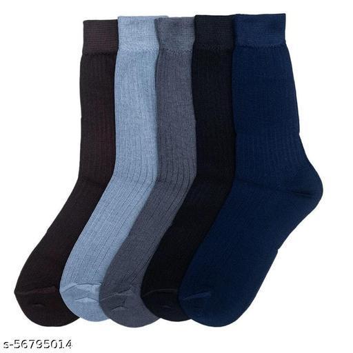 Men's Regular Length Cotton Socks Pack of 5