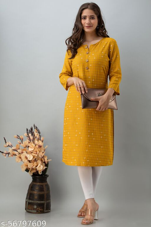 Aradhana Fashion Royan Solid & Gota Work Straight Kurta