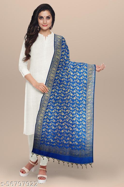 Beautyful Womens JEQUARD  silk Banarasi  Dupatta /Chunni