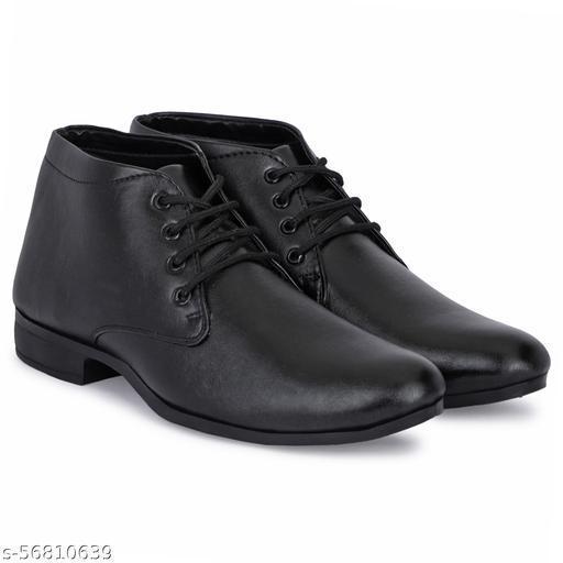 umax  Black Formal Shoes For Men