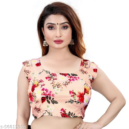 NK PAL STYLE BOLLYWOOD STYLE NEW DESING FENCY SATIN BLOUSE