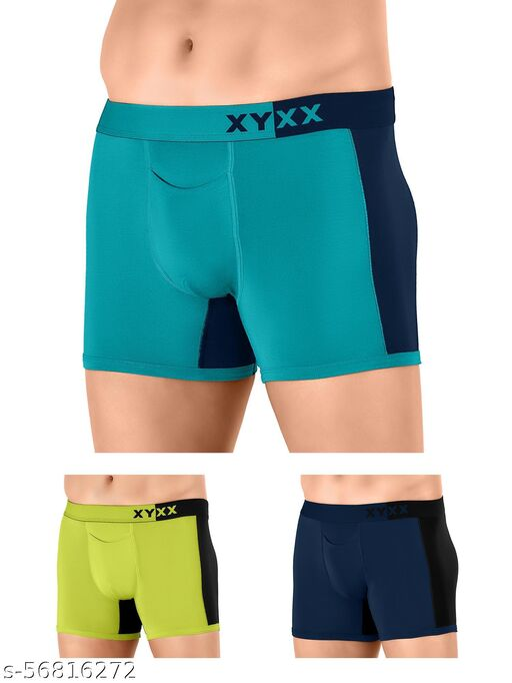 XYXX IntelliSoft Antimicrobial TENCEL Modal Premium Dualist Trunk For Men (Pack of 3)