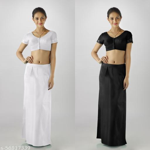 Premium quality petticoat combo of Black&White
