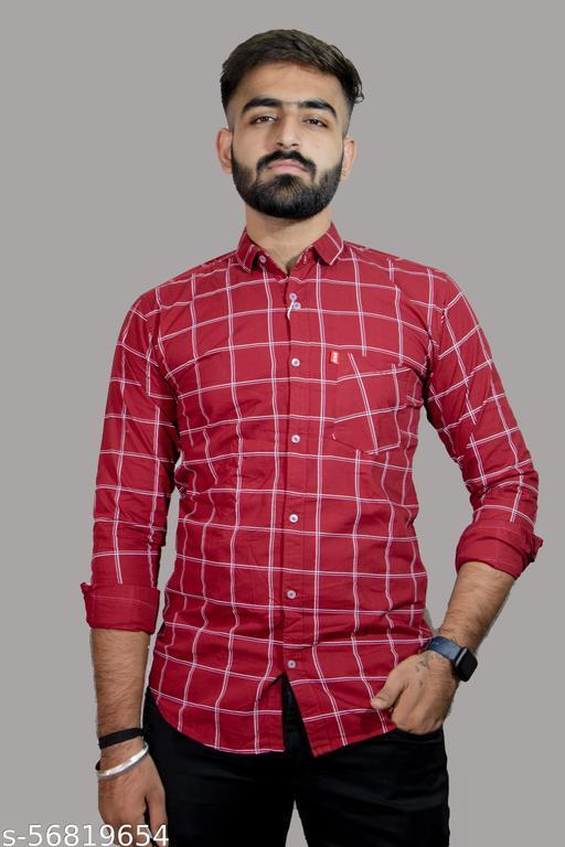 Men's Regular Fit Checkered Casual Shirt