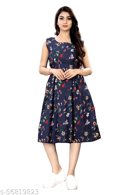 Western Floral Dress For Women