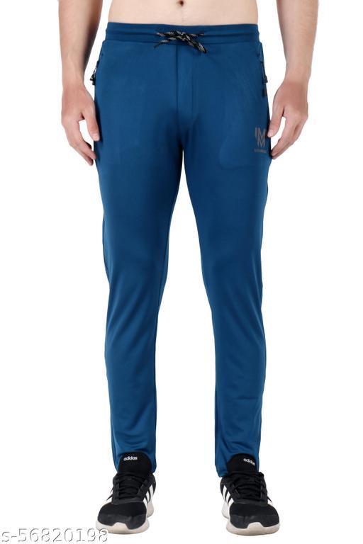 Solid Men Blue Track Pants
