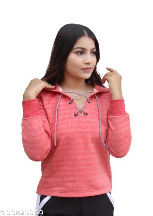 Women Winter sweatshirt Light Red Colour