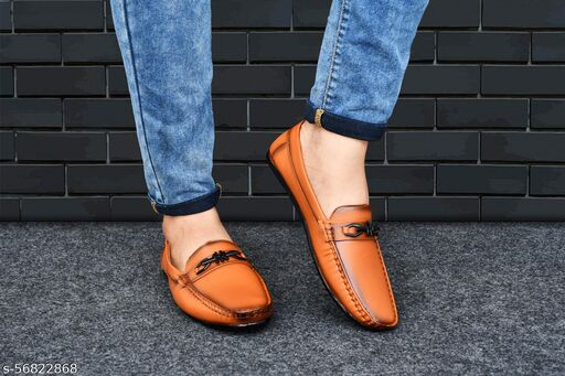 Neoron Tan Loafers for Men's