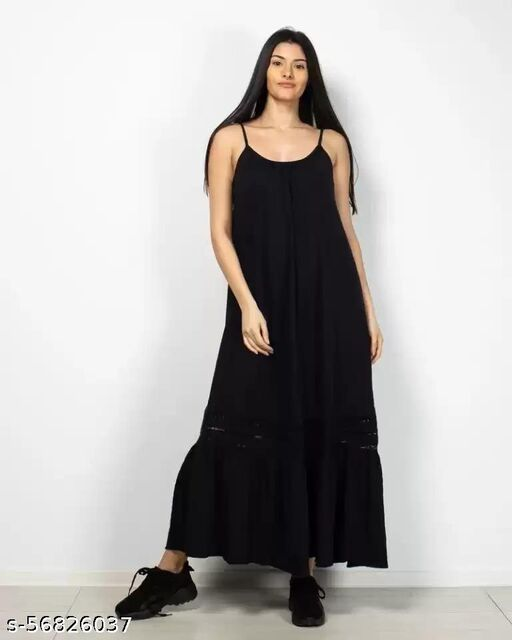 Women Long cotton dress with straps