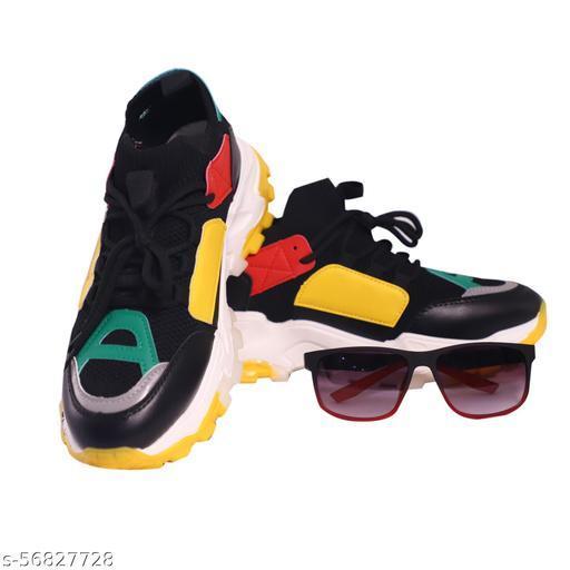 Lobe Lista Men's Cousion Foam Breathable Sports Shoes with Freebie Sunglasses