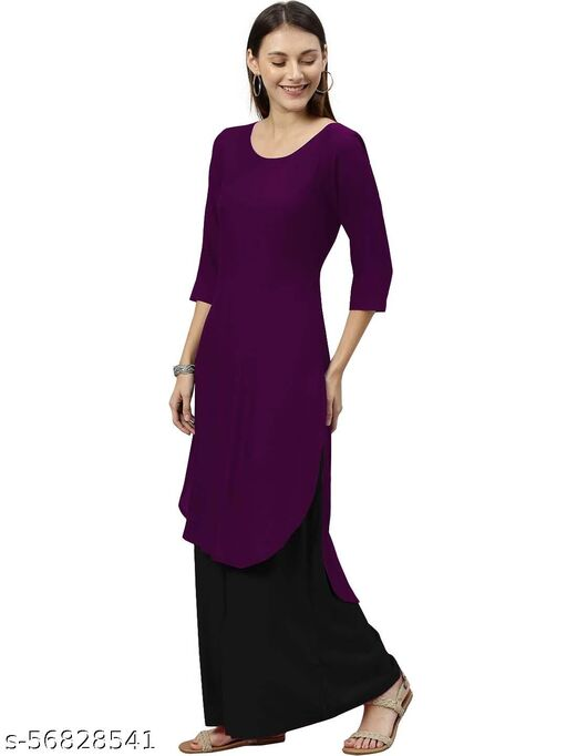 Women's Rayon Solid Plain Kurtis