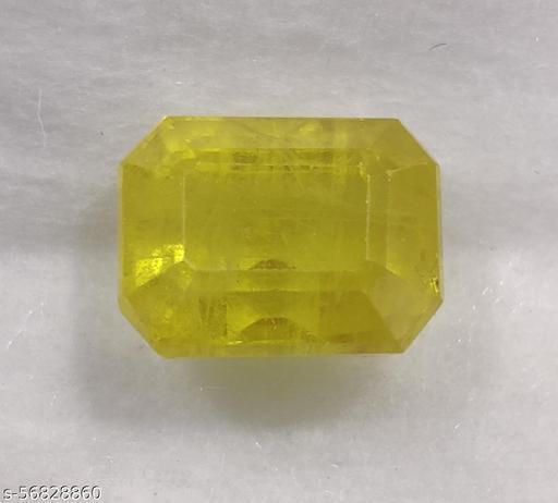 Pukhraj, Guru, Ratti 5.74/Carats 5.22, Lab Certified Good Quality Bangkok Natural Yellow Sapphire Loose Gemstone.