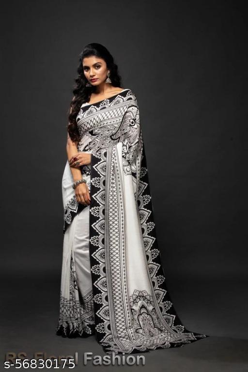 Women's Beautiful Printed Soft Silk Saree
