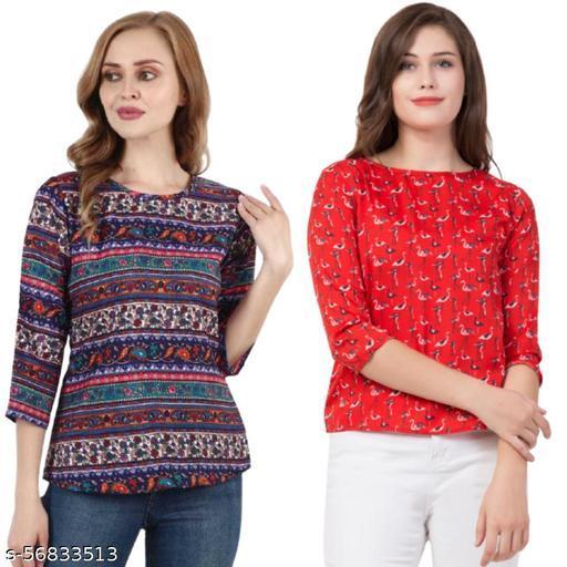 Fancy Designer Women Tops & Tunics Combo Pack of 2