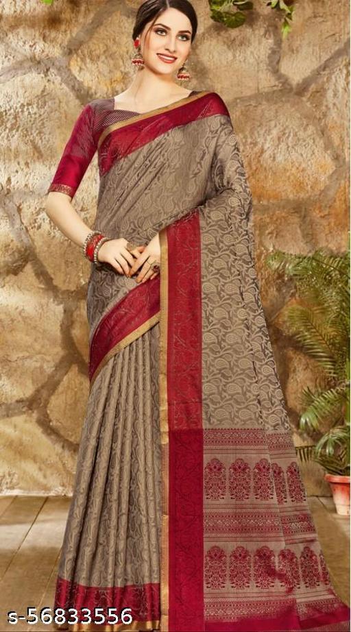 Women Cotton Saree with Blouse Piece