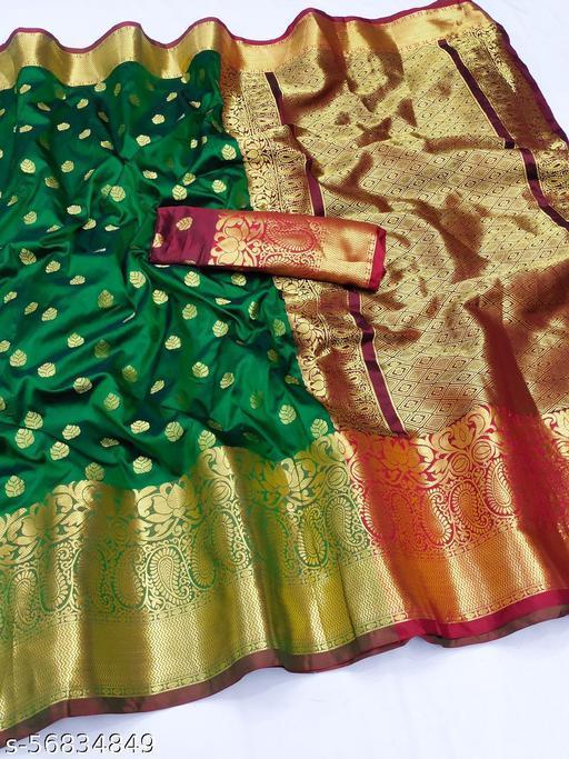 Self Design Banarasi Cotton Silk Saree, Zari Woven Banarasi Silk Cotton Silk Saree