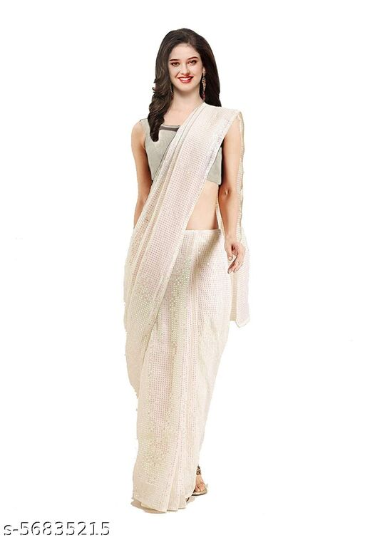 KC NEW LAUNCHING SUPER HIT DESIGNERS GEORGETE SAREE WITH BLOUSE PIECE.