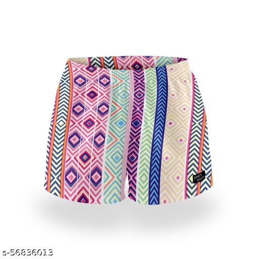 Whats Down Vertical Boho Boxers for Women