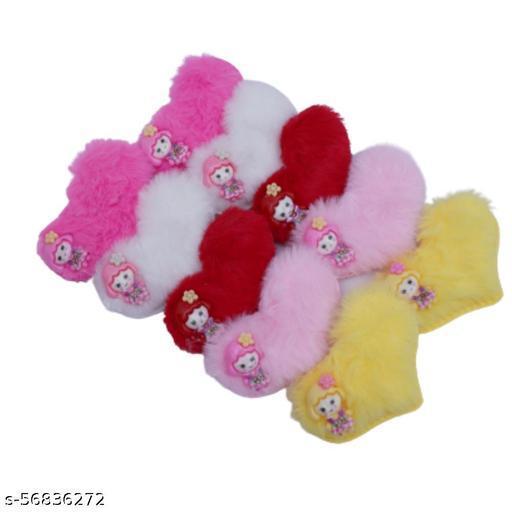 Cute Fancy Fur Plush Hair Clips for Small Girls/Teens & Women | Hair clips Party Hair accessories